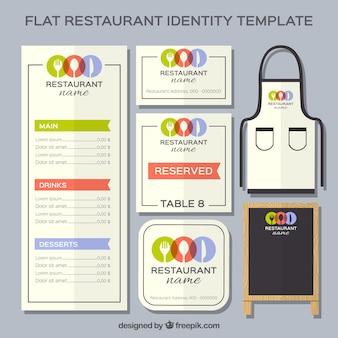 Papelería moderna de restaurante