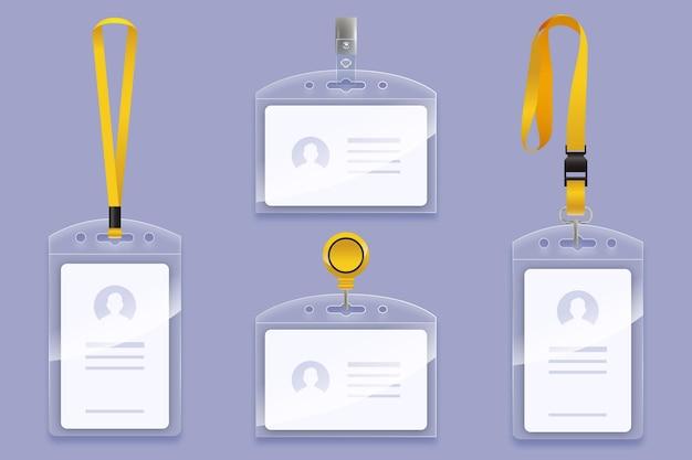 Papelería de tarjeta de identificación de diseño realista