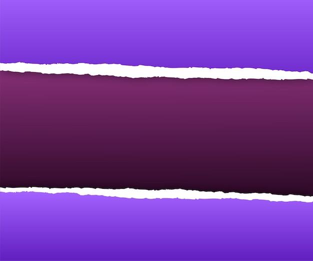 Papeles violetas rotos en diferentes tonos.