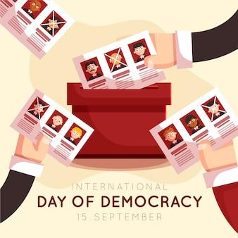 Papeleta electoral del día internacional de la democracia