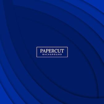 Papercut ola azul diseño colorido vector