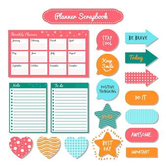 Paquete de álbum de recortes de planificador