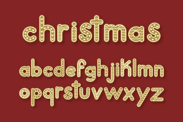Paquete de alfabeto de navidad de pan de jengibre
