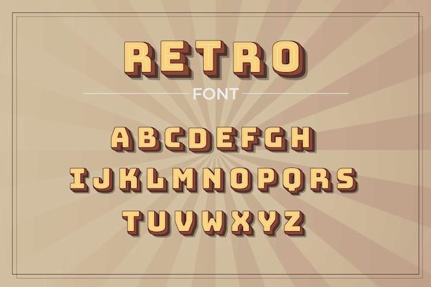 Paquete de alfabeto retro 3d