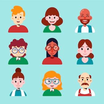 Paquete de avatar de personas