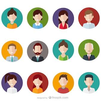 Paquete de avatares de usuario