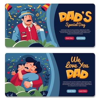 Paquete de banner del día del padre