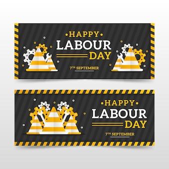 Paquete de banner del día del trabajo