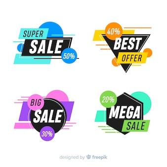 Paquete de banners abstractos de ofertas especiales