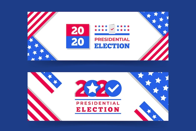 Paquete de banners de elecciones presidenciales de 2020 en ee. uu.