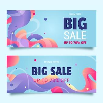 Paquete de banners de ventas abstractas