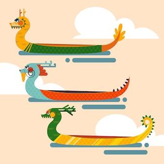 Paquete de barco del dragón