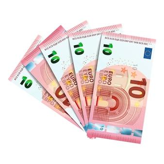 Paquete de billetes de 10 euros