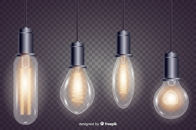 Paquete de bombillas realistas