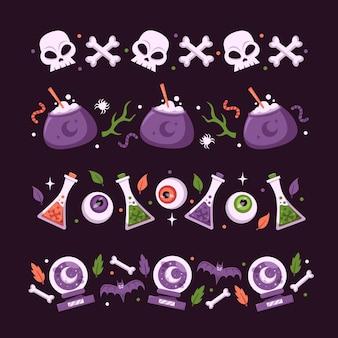 Paquete de borde del festival de halloween