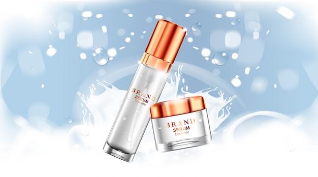 Paquete de botella cosmética de lujo crema para el cuidado de la piel