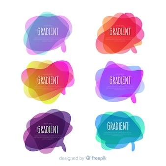 Paquete de burbujas de discurso gradiente