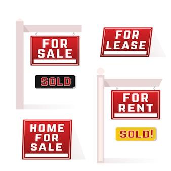 Paquete de carteles de venta inmobiliaria