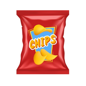Paquete de chips realistas