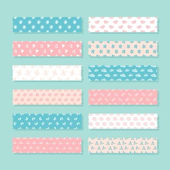 Paquete de cinta washi plana