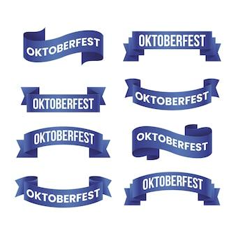 Paquete de cintas de oktoberfest realista