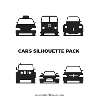 Paquete de coches silueta