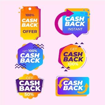 Paquete de colección de etiquetas de devolución de dinero