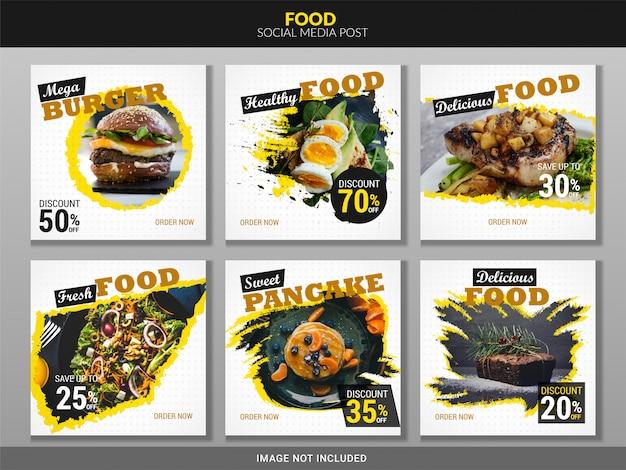 Paquete de comida para publicaciones en redes sociales