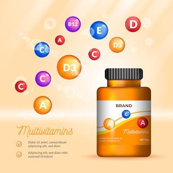Paquete de complejo vitamínico realista