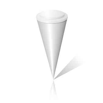 Paquete de cono de helado en blanco