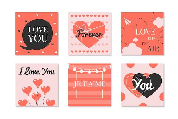 Paquete de correos de instagram para el día de san valentín