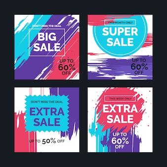 Paquete de correos de instagram de ventas