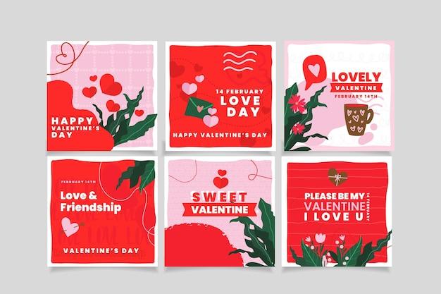 Paquete de correos de san valentín