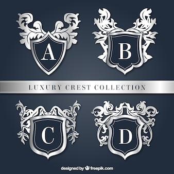 Paquete de cuatro escudos elegantes