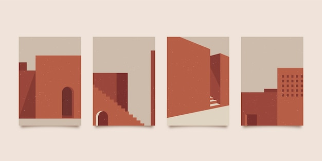 Paquete de cubiertas de arquitectura mínima
