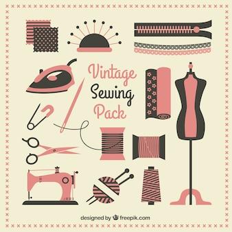 Paquete de coser de la vendimia