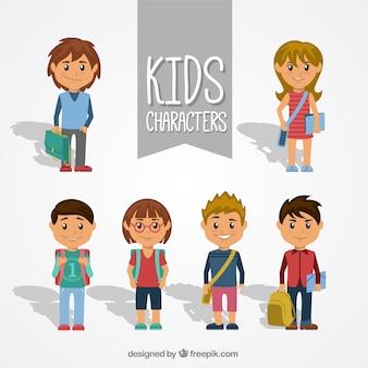 Paquete de personajes de niños