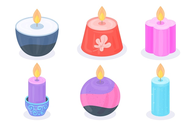 Paquete detallado de velas perfumadas