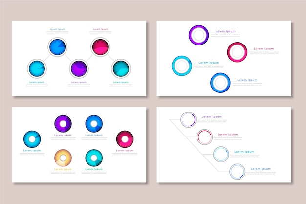 Paquete de diagramas de bolas pesadas realistas