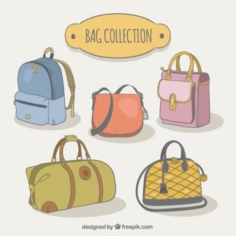 Paquete de diferentes tipos de bolsos