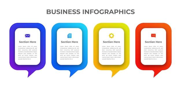 Paquete de diseño de infografías de negocios elegante moderno creativo
