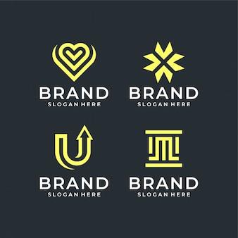 Paquete de diseño de logotipo abstracto