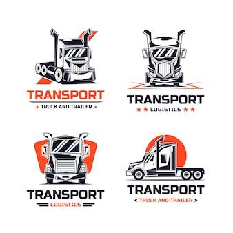 Paquete de diseño de logotipo de transporte