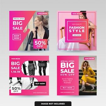 Paquete de diseño de plantilla de publicación en redes sociales
