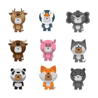 Paquete de disfraces de animales