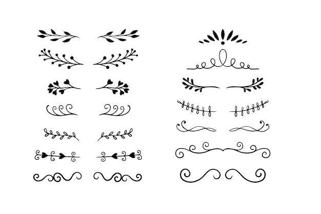 Paquete divisor ornamental dibujado
