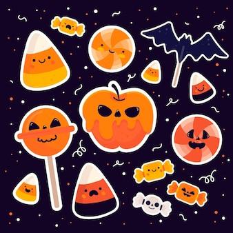 Paquete de dulces del festival de halloween