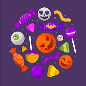 Paquete de dulces de halloween