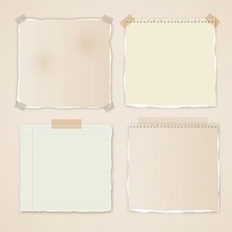 Paquete de efectos de papel rasgado realista