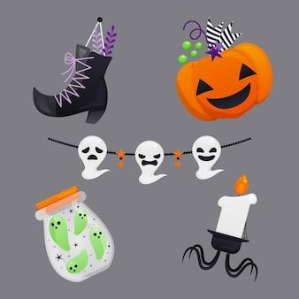 Paquete de elementos de halloween